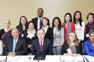 Scenes from the inaugural meeting of the UN Secretary-General's High-Level Panel on Women's Economic Empowerment held at UN Headquarters on 15 March 2016.
