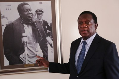Vice President Emmerson Mnangagwa says he has no ambition to become president.