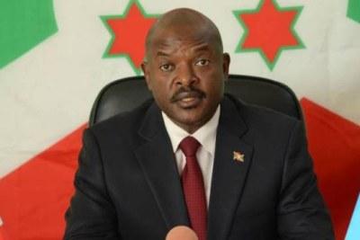 Burundian President, Pierre Nkurunziza.