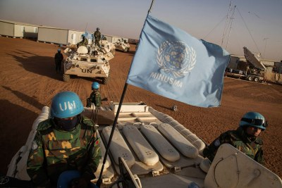 UN peacekeepers on ppatrol.