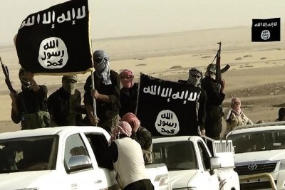 Islamic State fighters (file photo).