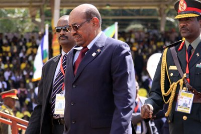 Sudanese President Omar al Bashir at a State function in Uganda. African Union leaders have consistently refused to enforce an ICC arrest warrant against the Sudanese leader.