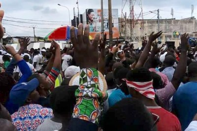 Opposition rally for Dr. Jean Ping in Libreville