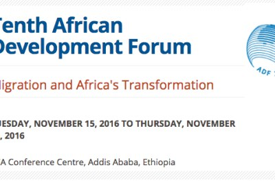 "The theme for the 10th African Development Forum (ADF) ""Migration and Africa's Transformation"" stems from the recognition of the"
