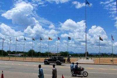 John Garang Mausoleum Square in Juba.