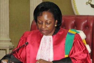 Marie-Madeleine Mborantsuo,présidente de la Cour constitutionnelle Gabonaise