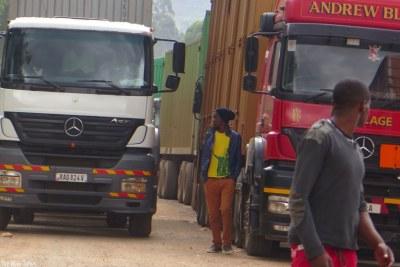 (Photo d'archives) - Une situation de blocus au niveau d'une frontière entre deux pays africains.