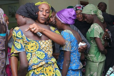Vice President Yemi Osinbajo meets with freed Chibok schoolgirls.