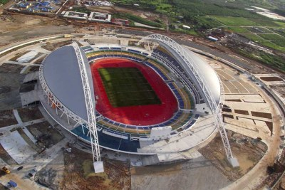 Stadium built by Bechtel, along with hotels and roads for the 2012 Africa Cup of Nations football tournament, hosted by Gabon