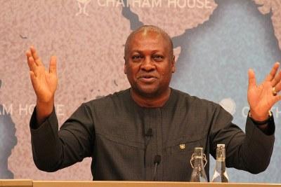 Ghanaian President John Mahama.