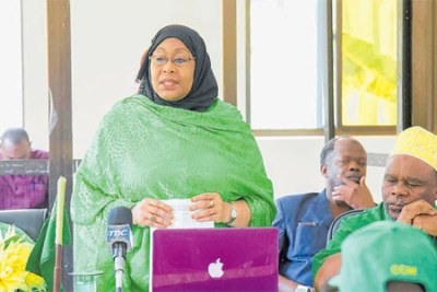 CCM Central Committee and Vice President Samia Suhulu Hassan.