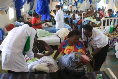 Nurses attend to newborn babies at Consolata Hospital in Nyeri on January 2, 2017.