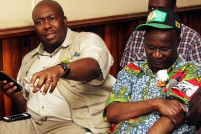 From left, Saviour Kasukuwere and Jonathan Moyo (file photo).
