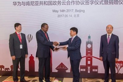 President Uhuru Kenyatta at the Belt and Road Forum for International Cooperation at the China National Convention Centre (file photo).