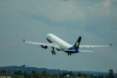 A RwandAir plane.