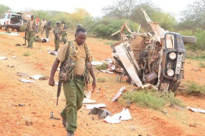 A site of an explosion in Mandera County (file photo).