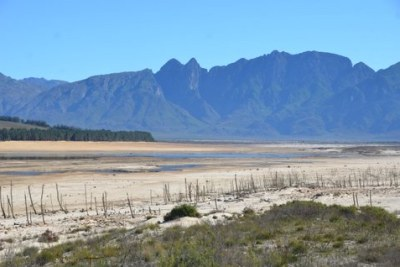 Theewaterskloof Dam on the Sonderend River near Villiersdorp close to Cape Town.