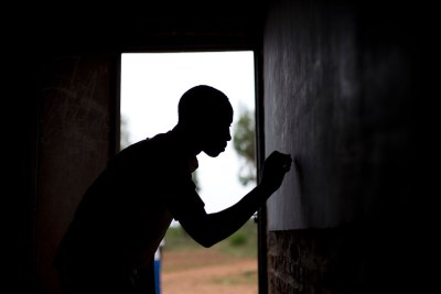 A young man, 17 is part of a national reintegration strategy in Burundi. At this re-education centre the children are provided help including access to social workers and psychologists.