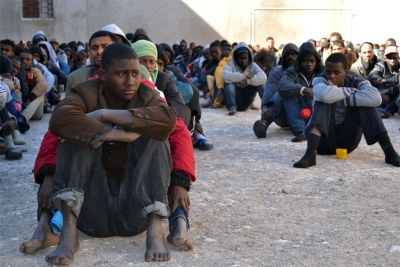 African migrants in Libya (file photo).