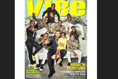 French Montana covers Vibe Magazine alongside talented Ugandan Ghetto Kids.
