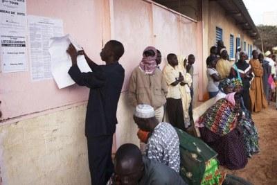 Polling station in Dakar.