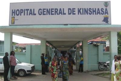 Entrée principale de l'Hôpital général de Kinshasa. (archive)