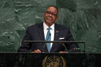 Arthur Peter Mutharika, President of the Republic of Malawi, addresses the general debate of the General Assembly's seventy-second session. (file photo).