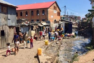 An area close to the city center of Antananarivo, Madagascar.