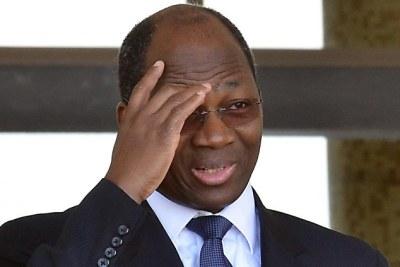 Djibril Bassolé, l'un des principaux accusé à la barre