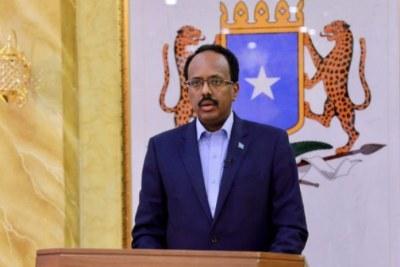 Le Président annonçant trois jours de deuils après les attentats.