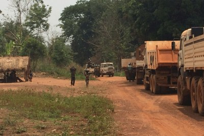 Convoi de la Minusca sur la route Bambari-Ippy (photo d'illustration).