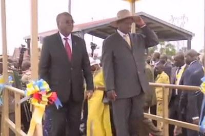 President Yoweri Museveni and his Tanzania counterpart John Pombe Magufuli