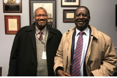 Raila Odinga meets Gregory B Simpkins of US Congressional Committee on November 8, 2017 in Washington DC.