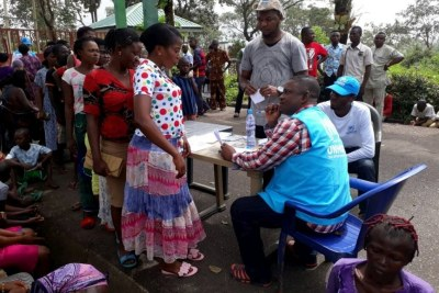 Cameroonian refugees arriving in Cross River State (file photo).