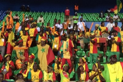 Senegalese supporter