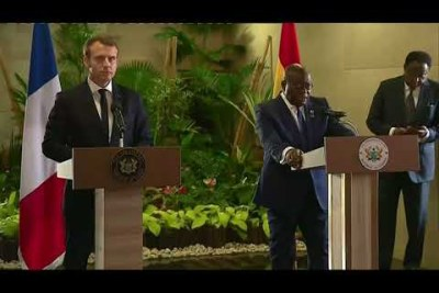 Ghanaian President Akufo-Addo's speech during a press conference with French President Macron has sent a strong message to the western world.