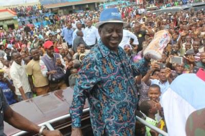 National Super Alliance leader Raila Odinga.