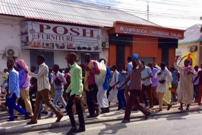 Somalis hold anti Trump Demos
