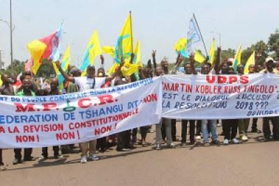 Marche de l'opposition congolaise