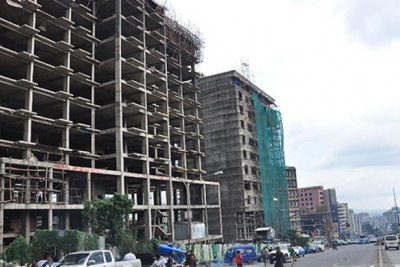 Construction in Addis Ababa.