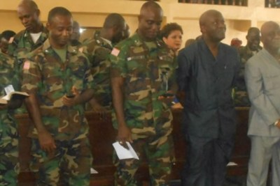 Chief of Staff (in middle) of the Armed Forces of Liberia, Daniel ZianKahn