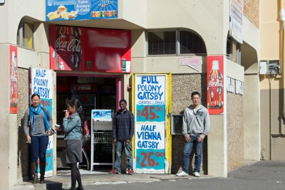 Tastebud Shack, Norlen House, corner of Buitenkant Street and Caledon Street, Cape Town, South Africa. A gatsby is a South African sandwich typically sold as a foot-long sandwich sliced into four or eight pieces (file photo).