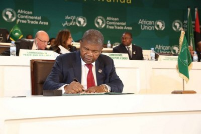 President of Angola, João Lourenço, at Continental Free Trade Area signing ceremony (file photo).