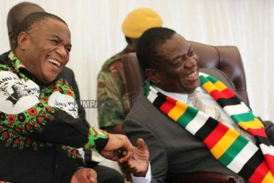 President Emmerson Mnangagwa and Vice President Constantino Chiwenga (file photo).