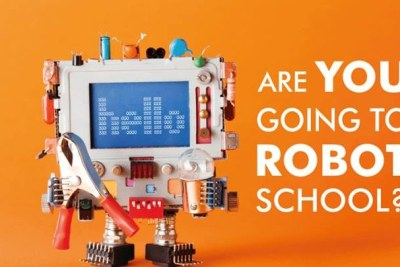 Promotional image for Namibia's Robot School.