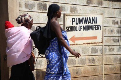 Patients leave Pumwani Maternity Hospital, Nairobi (file photo).