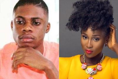 Nigerian comedian Ebiye and Nigerian singer Aramide.