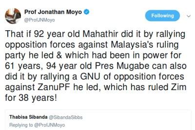 Jonathan Moyo tweet.