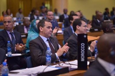 La délégation marocaine à la cérémonie de clôture de la 51ème session de la conférence des ministres africains des finances, de la planification et du développement économique de la Commission économique pour l'Afrique (Cea)