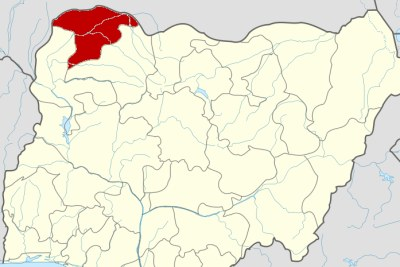 Sokoto state on map